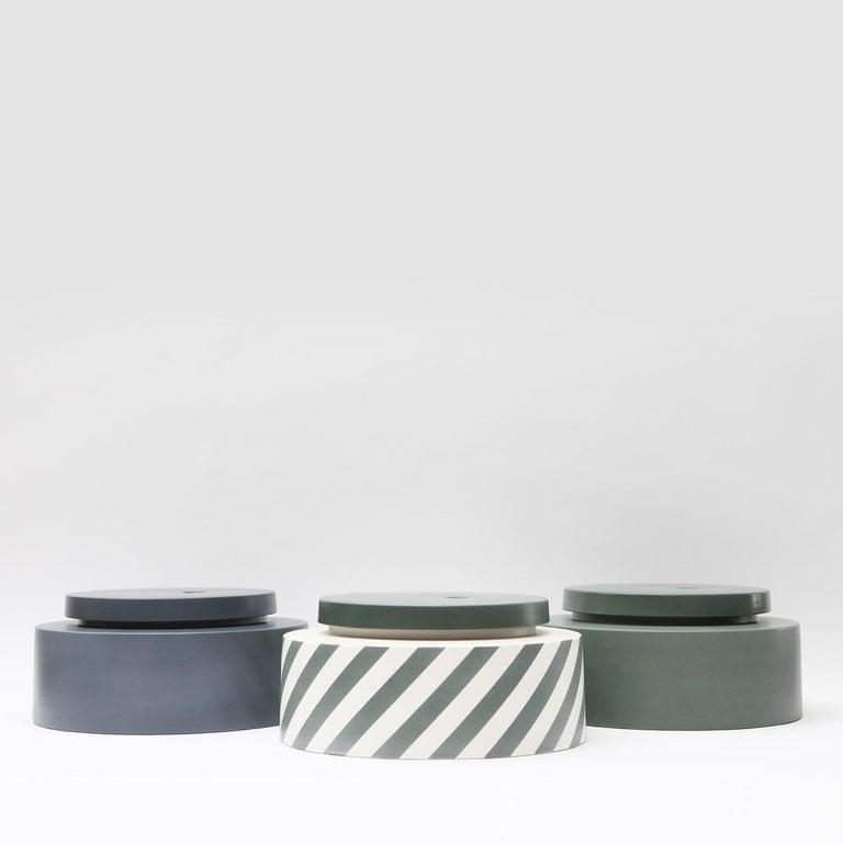 Italian Silos Stackable Vase Gray For Sale