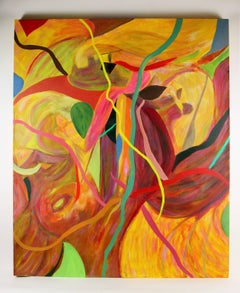 Abstract Ribbons Large Painting