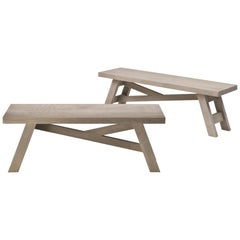 Silvanus Outdoor Console Table in Solid Sassafras Wood