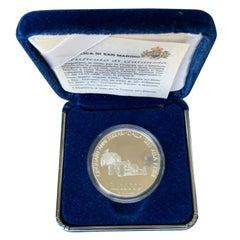 Silver 10000 Lire 1998 Ferrari 50th Anniversary San Marino Coin, Italy