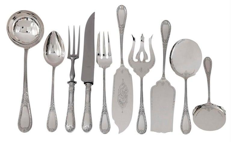 Silver 234-Pieces Cutlery Set 12 Persons Spain Orion Art Nouveau Cabinet ca.1900 For Sale 12