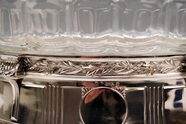 Austrian Silver 800 Art Nouveau Bowl Jardinière Rozet Fischmeister Sturm Vienna ca. 1900 For Sale