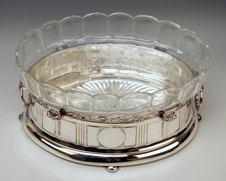 Early 20th Century Silver 800 Art Nouveau Bowl Jardinière Rozet Fischmeister Sturm Vienna ca. 1900 For Sale