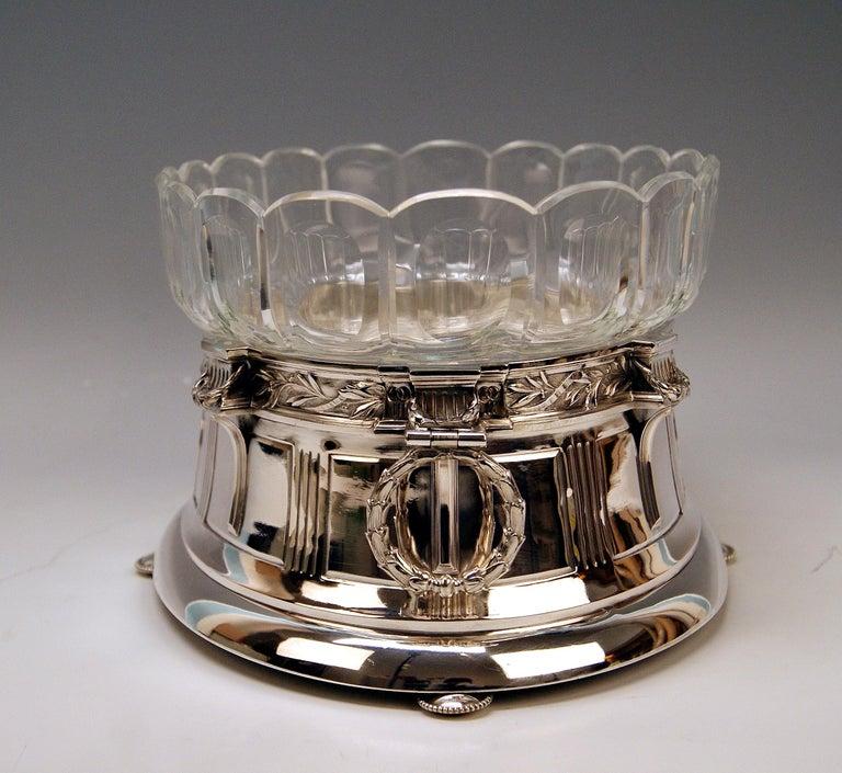 Silver 800 Art Nouveau Bowl Jardinière Rozet Fischmeister Sturm Vienna ca. 1900 For Sale 1