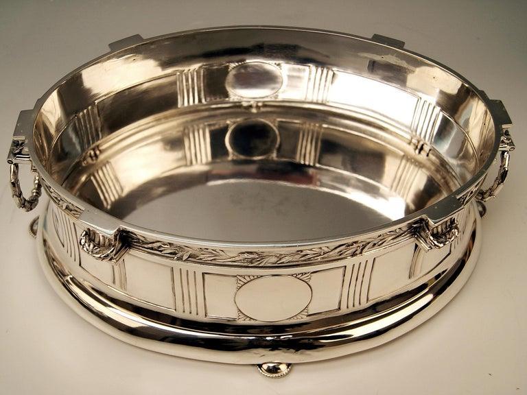 Silver 800 Art Nouveau Bowl Jardinière Rozet Fischmeister Sturm Vienna ca. 1900 For Sale 2