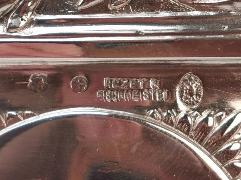 Silver 800 Art Nouveau Bowl Jardinière Rozet Fischmeister Sturm Vienna ca. 1900 For Sale 4