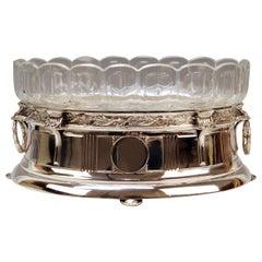 Silver 800 Art Nouveau Bowl Jardinière Rozet Fischmeister Sturm Vienna ca. 1900