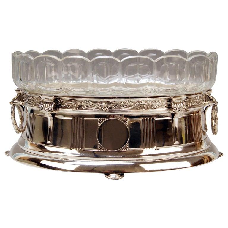 Silver 800 Art Nouveau Bowl Jardinière Rozet Fischmeister Sturm Vienna ca. 1900 For Sale