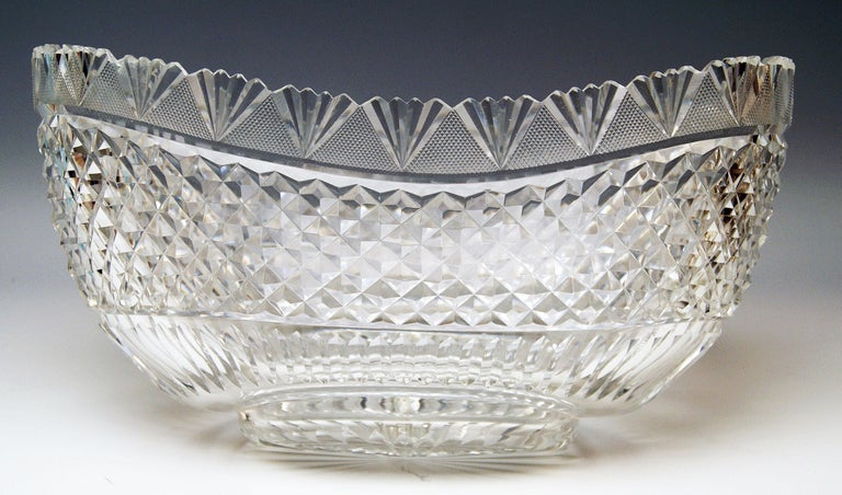 Silver 800 German Centrepiece Glass Schleissner, Hanau ca 1890 width 18.3 inches For Sale 1