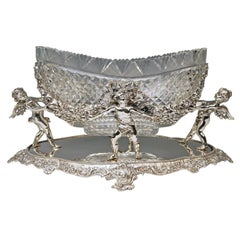 Baroque Revival Serveware, Ceramics, Silver and Glass