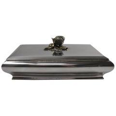Silver 800 Vanity Strawberry Lidded Box