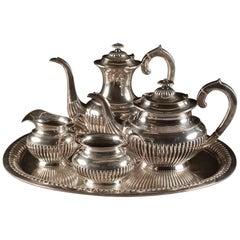 Silver '835/1000' Coffee and Tea Service Set, 5 Pieces, Netherlands, circa 2000