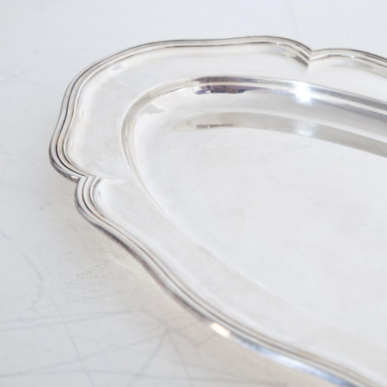 Silver 900 Serving Plate, Marked F. Hiller, Germany, 1899 In Good Condition For Sale In Greding, DE