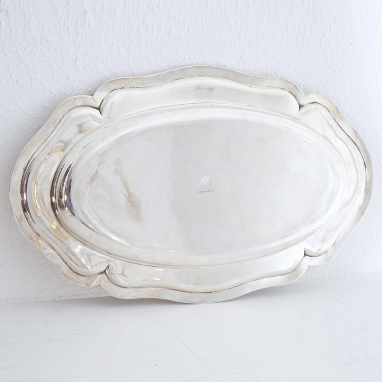 Late 19th Century Silver 900 Serving Plate, Marked F. Hiller, Germany, 1899 For Sale