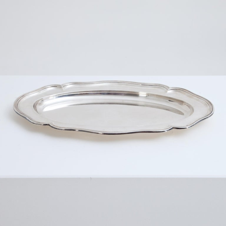 Silver 900 Serving Plate, Marked F. Hiller, Germany, 1899 For Sale 4