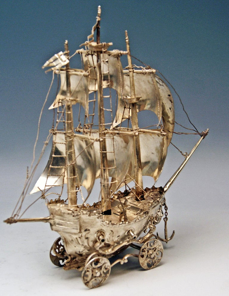 Other Silver 915 Sailing Ship Spain Probably Madrid, circa 1934-1935 For Sale