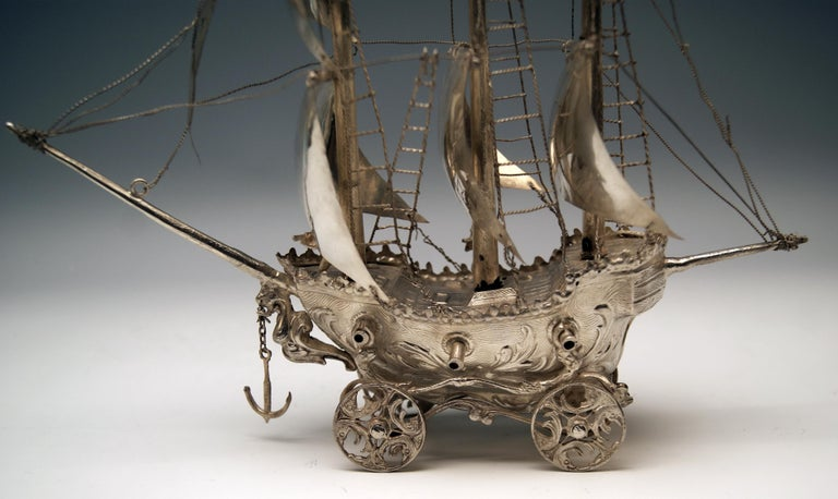 Silver 915 Sailing Ship Spain Probably Madrid, circa 1934-1935 For Sale 1