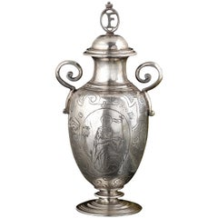 Silver Altar Bottle for Holy Oil, Spanish, circa 1620