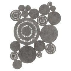 Silver Alyssa Patchwork Rug