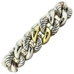 Silver and 18 Karat Gold David Yurman Bracelet