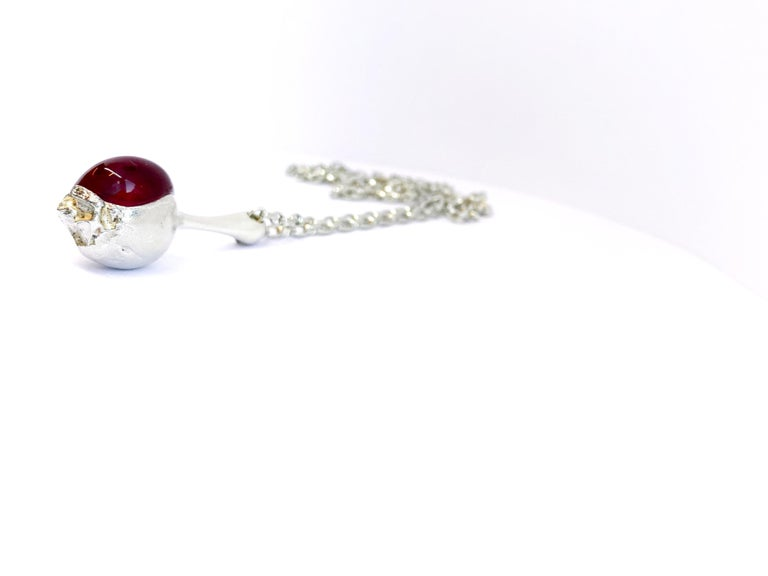 Silver and Acrylic Björn Weckström Lapponia 1973 Finland Nectaris Necklace For Sale 1
