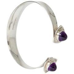 Silver and Amethyst Bracelet by Elis Kauppi for Kupittaan Kulta Oy