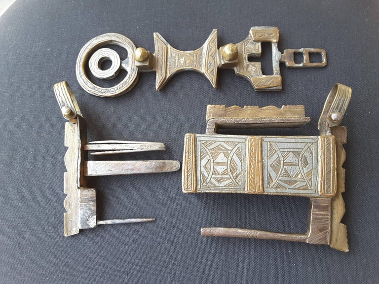 Other Silver and Bronze Camel Chest Lock 19th Century, North Africa For Sale
