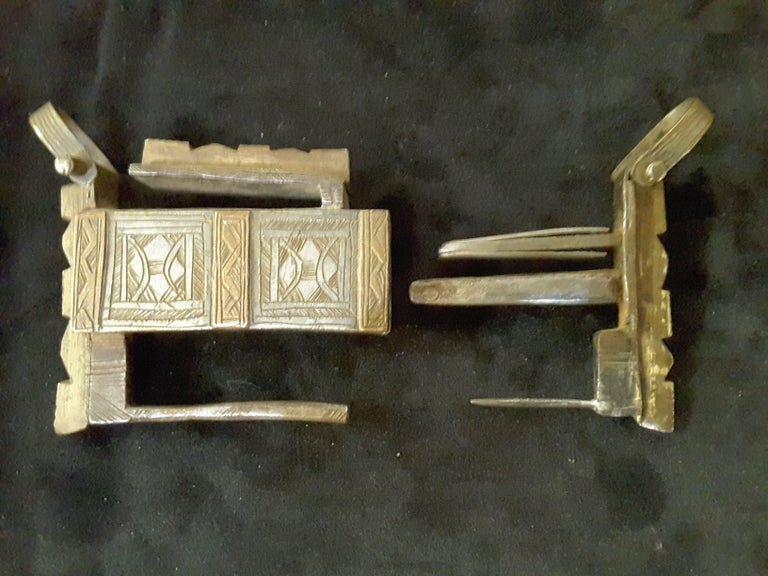 Silver and Bronze Camel Chest Lock 19th Century, North Africa In Good Condition For Sale In Ottawa, Ontario