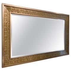 Silver and Bronze Detailed Wall Mirror