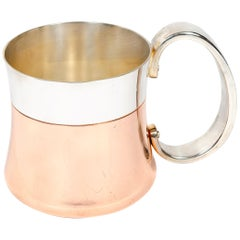 Silver and Copper Mug by Henning Koppel