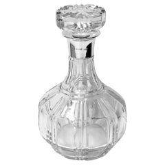 Silver and Crystal Decanter Birmingham 1942 Barker Bros