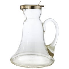 Silver and Crystal Glass Decanter