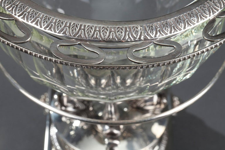 Silver and Cut-Crystal Confiturier For Sale 4
