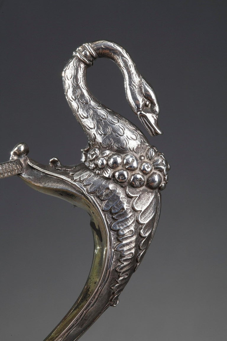 Silver and Cut-Crystal Confiturier For Sale 7