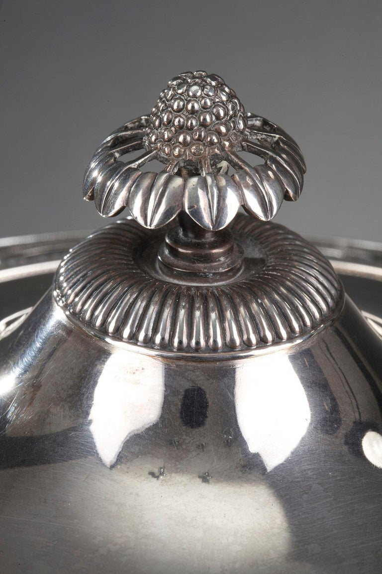 Silver and Cut-Crystal Confiturier For Sale 8