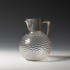 Silver and Cut Glass Claret Jug, circa 1900.