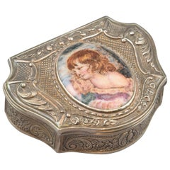 Silver and Enamel Box, Late 19th Century-Early 20th Century
