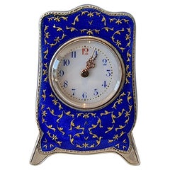 Silver and Enamel Sub Miniature Carriage Clock