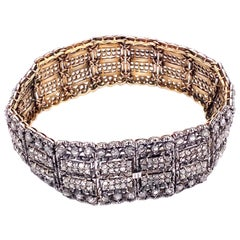 Silver and Gold Mario Buccelati Flex Bracelet