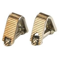 Silver and Gold Stirrup Cufflinks