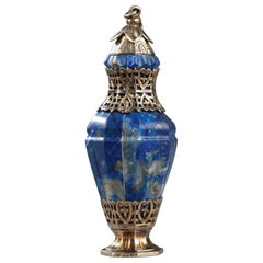 Silver and Lapis Lazuli Flask, 19th Century