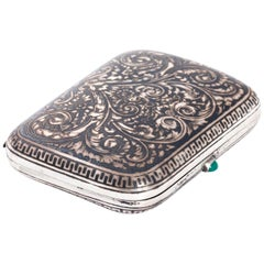 Silver and Niello Russian Cigarette Case
