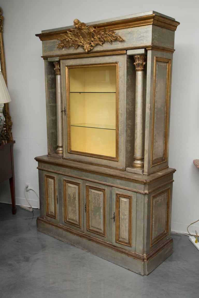 Silver and Parcel-Gilt Italian Cabinet For Sale 3