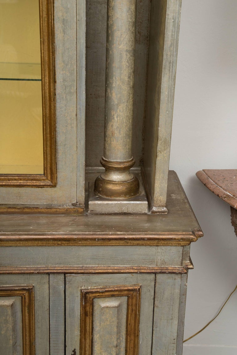 Silver and Parcel-Gilt Italian Cabinet For Sale 5