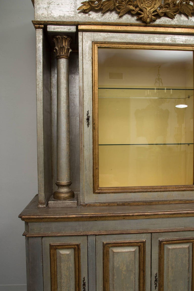 Silver and Parcel-Gilt Italian Cabinet For Sale 6