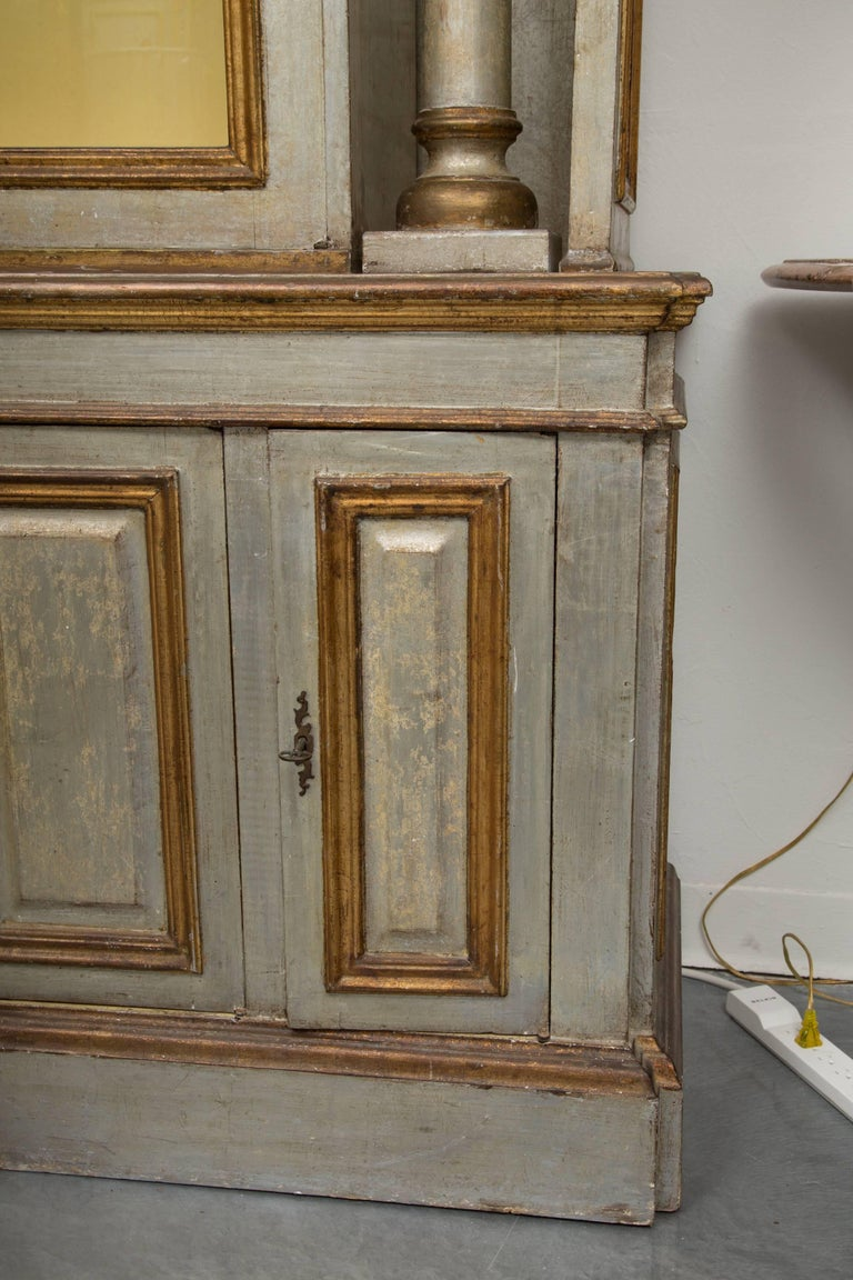 Silver and Parcel-Gilt Italian Cabinet For Sale 8