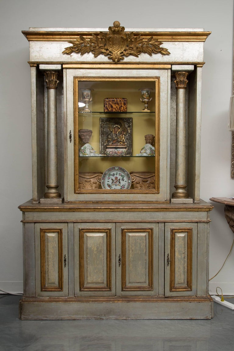 Silver and Parcel-Gilt Italian Cabinet For Sale 10