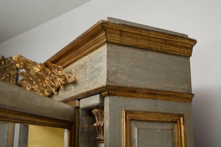 19th Century Silver and Parcel-Gilt Italian Cabinet For Sale