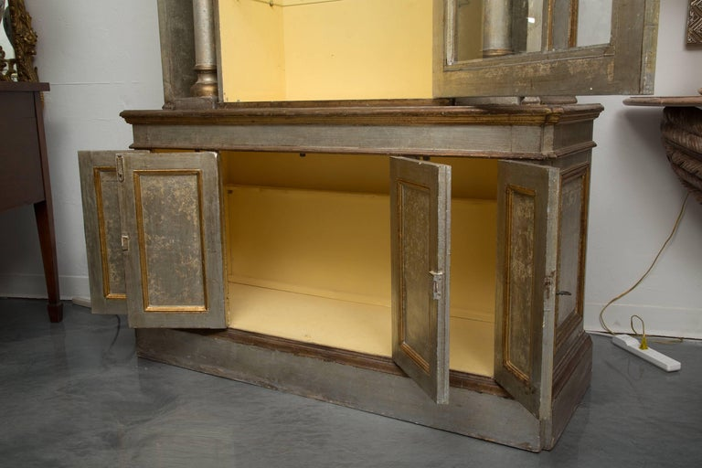 Silver and Parcel-Gilt Italian Cabinet For Sale 1