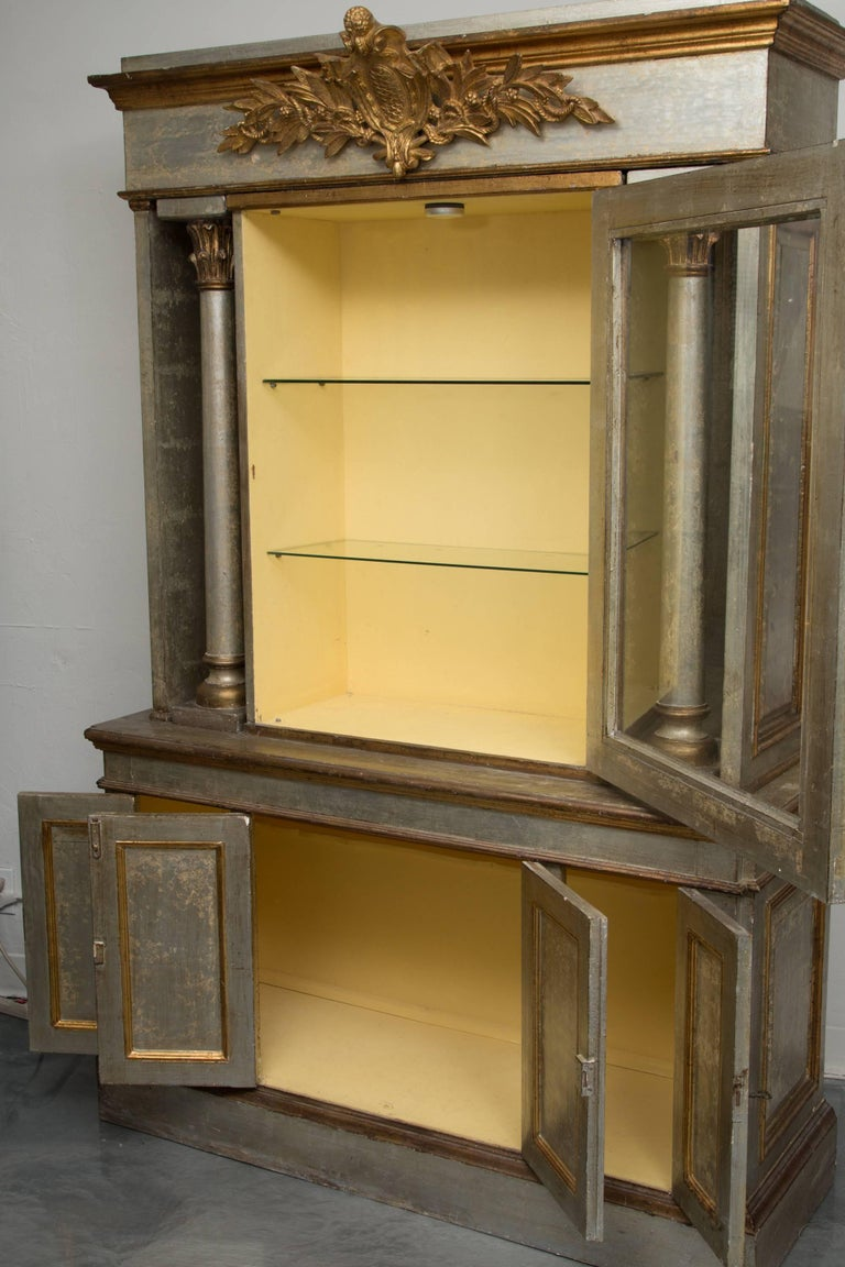 Silver and Parcel-Gilt Italian Cabinet For Sale 2